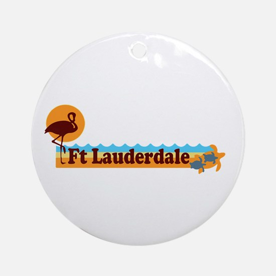 Fort Lauderdale - Beach Design. Ornament (Round)