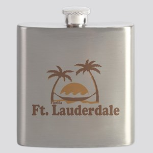 Fort Lauderdale - Palm Trees Design. Flask