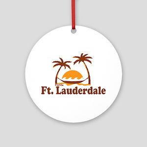 Fort Lauderdale - Palm Trees Design. Ornament (Rou