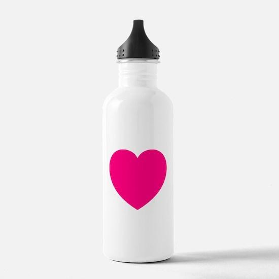 Hot Pink Heart Water Bottle