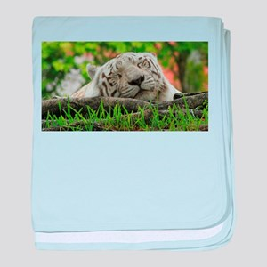 Sleeping Beauty/Bengal White Tiger baby blanket