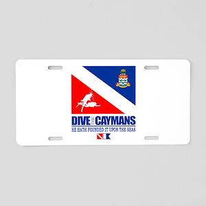 Dive The Caymans Aluminum License Plate