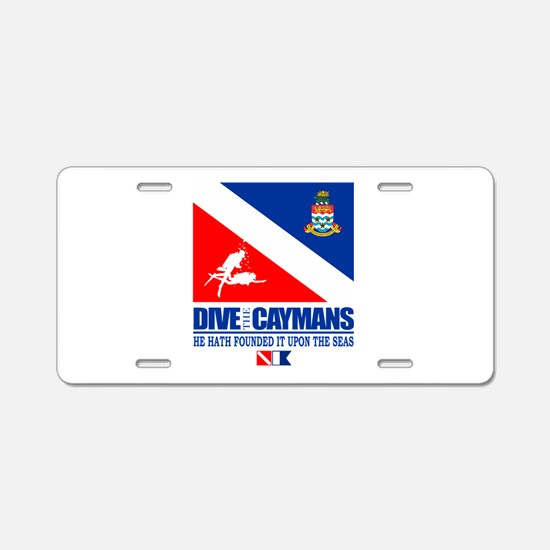 Dive The Caymans Aluminum License Plate