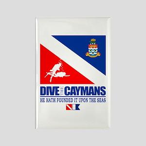 Dive The Caymans Rectangle Magnet
