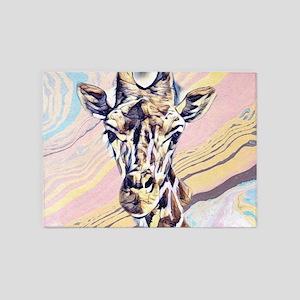 Impressive Animal - Giraffe 5'x7'Area Rug