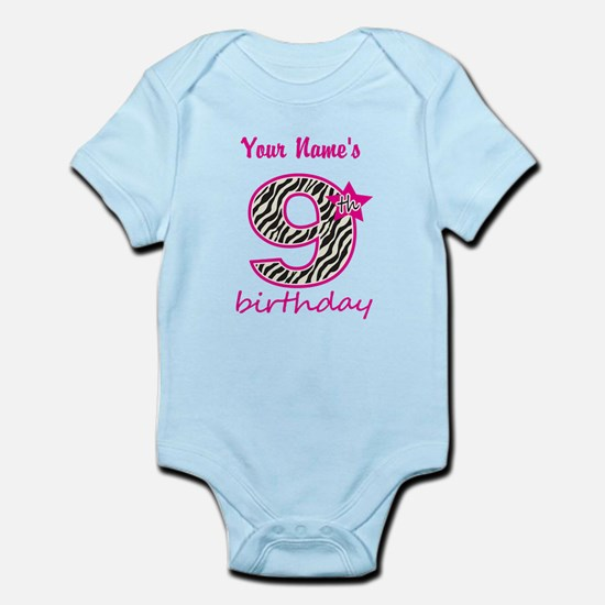 9th Birthday - Personalized Body Suit