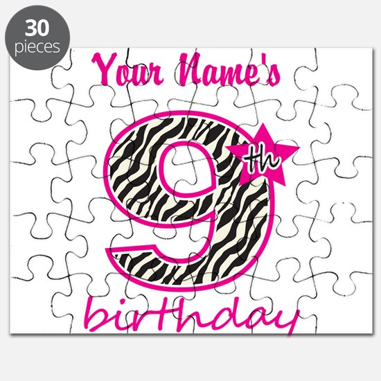 9th Birthday - Personalized Puzzle