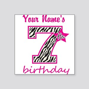 7th Birthday - Personalized Sticker