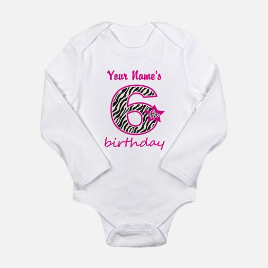 6th Birthday - Personalized Body Suit