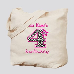 4th Birthday - Personalized Tote Bag