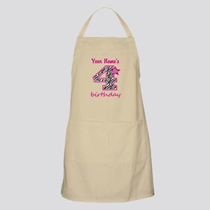 4th Birthday - Personalized Apron