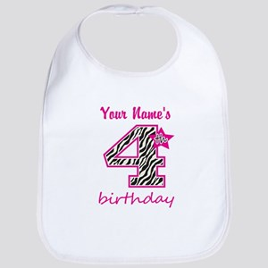 4th Birthday - Personalized Bib