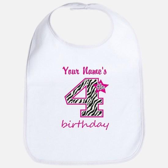 4th Birthday - Personalized Bib