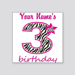 3rd Birthday - Personalized Sticker