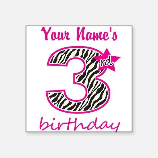 3rd Birthday - Personalized Sticker