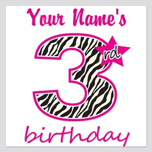 3rd Birthday - Personalized Flat Cards