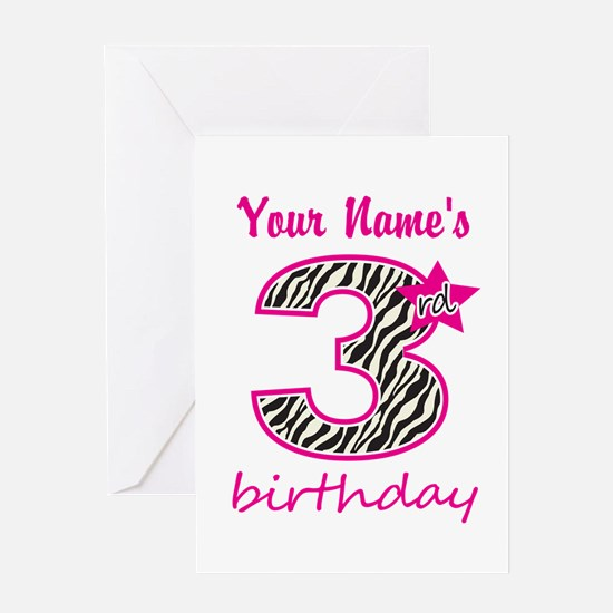 3rd Birthday - Personalized Greeting Card