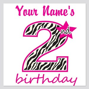 2nd Birthday - Personalized Flat Cards