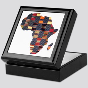 Ethnic African Tapestry Keepsake Box