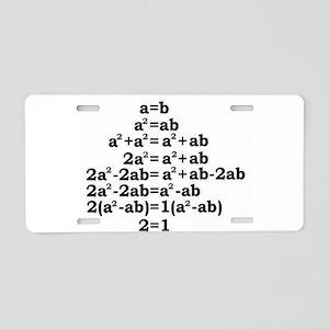 math genius Aluminum License Plate