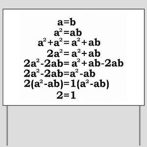 math genius Yard Sign