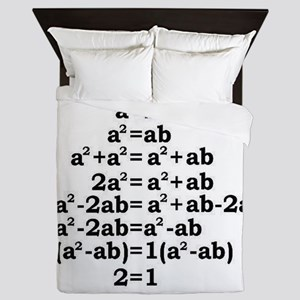 math genius Queen Duvet