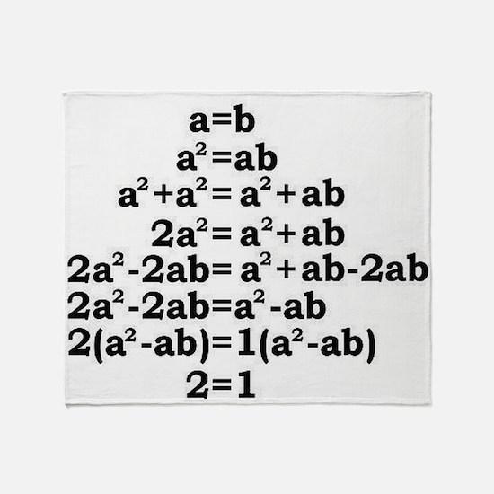 math genius Throw Blanket