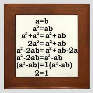 math genius Framed Tile