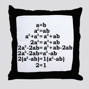 math genius Throw Pillow