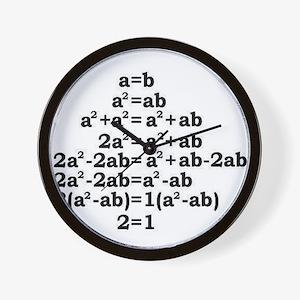 math genius Wall Clock