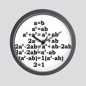 math genius Wall Clock