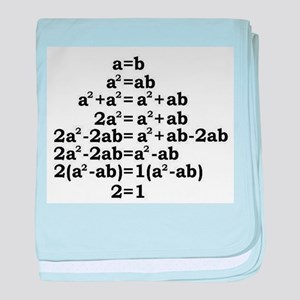 math genius baby blanket