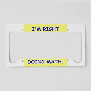 math genius License Plate Holder