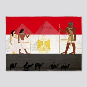 Egyptian Graphic 5'x7'Area Rug