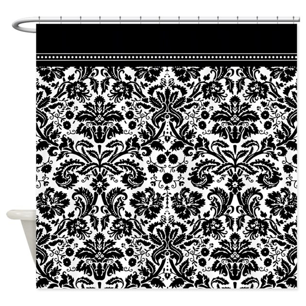 black and white bathroom curtains black and white damask shower curtain by inspirationzstore 22714