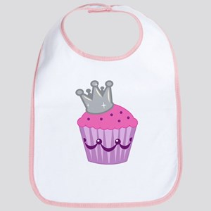 Purple silver cupcake Bib