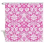 Hot Pink Damask Shower Curtain