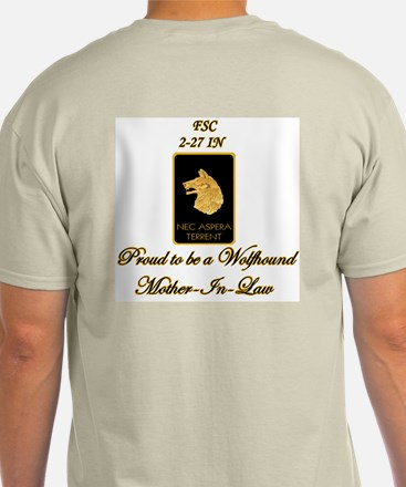Proud Wolfhound Mother-in-law-Spc Ash Grey T-Shirt