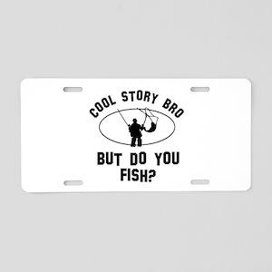 Fish designs Aluminum License Plate