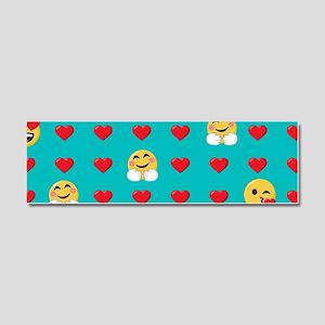 Emoji Hearts Car Magnet 10 x 3