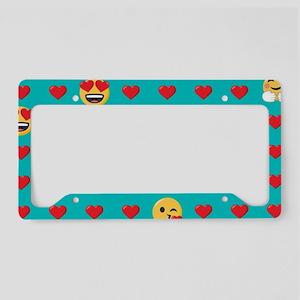 Emoji Hearts License Plate Holder
