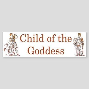 """Goddess Child"" Bumper Sticker"
