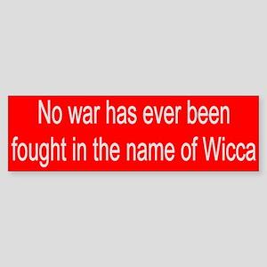"""No War For Wicca"" Bumper Sticker"