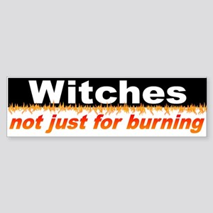 """""""Not Just For Burning"""" Bumper Sticker"""