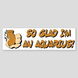 """Aquarius The Water Bearer"" Bumper Sticker"