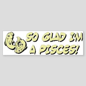 """""""Pisces The Fish"""" Bumper Sticker"""