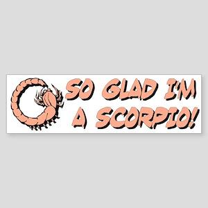 """""""Scorpio The Scorpion"""" Bumper Sticker"""