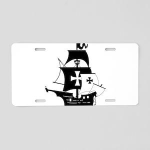 pirate ship Aluminum License Plate