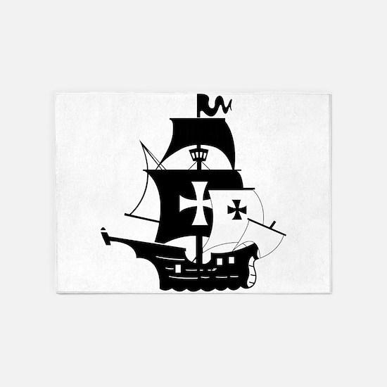 pirate ship 5'x7'Area Rug