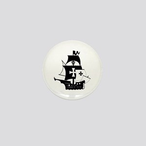pirate ship Mini Button